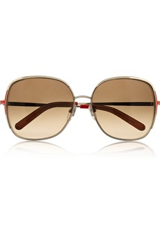 Chloé Square-frame metal sunglasses