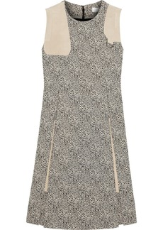Chloé Suede-trimmed jacquard dress