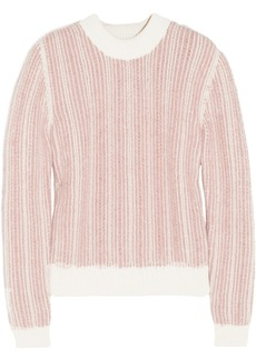 Chloé Textured cotton and angora-blend sweater