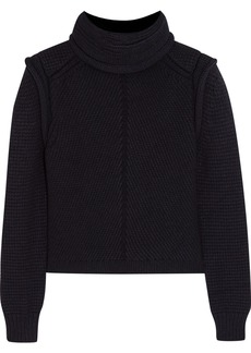 Chloé Wool, silk and cashmere-blend turtleneck sweater