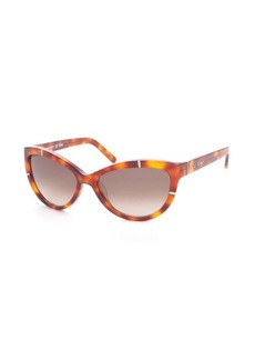 Chloe amber plastic cat eye metal detail sunglasses