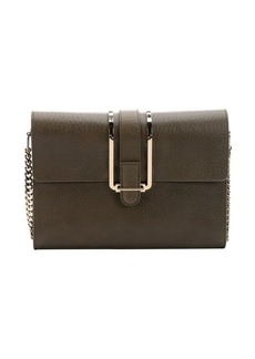 Chloe anchry grey leather 'Bronte' shoulder bag