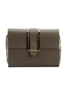 Chloe anchry grey leather 'Bronte' small shoulder bag