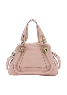 Chloe anemone pink leather mini 'Paraty' convertible top handle bag