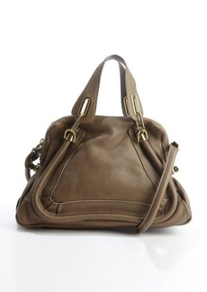 Chloe barbour khaki leather 'Paraty' convertible satchel