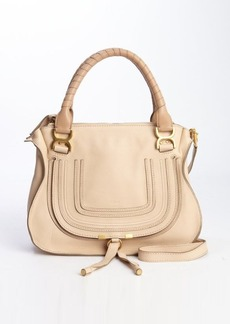 Chloe beige leather 'Marcie' convertible top handle bag