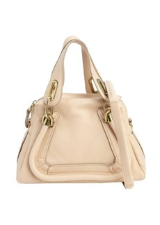 Chloe beige leather 'Paraty' small convertible top handle bag