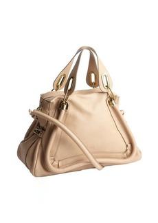 Chloe biscotti beige leather 'Paraty' medium top handle bag