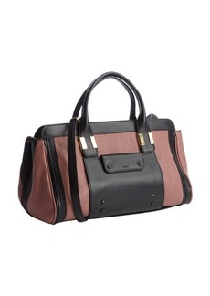 Chloe black and berry leather convertible top handle bag