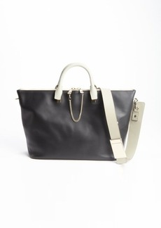 Chloe black and grey leather 'Baylee' convertible tote