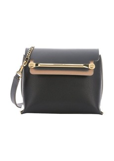 Chloe black and sand leather small 'Clare' convertible shoulder bag