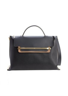 Chloe black and tan leather front flap 'Clare' convertible tote bag