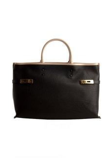 Chloe black calfskin 'Charlotte' large tote bag