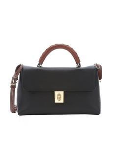 Chloe black calfskin 'Fedora' medium convertible top handle bag