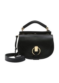 Chloe black calfskin small 'Goldie' convertible satchel