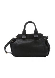 Chloe black lambskin 'Fynn' small satchel bag