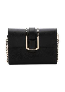 Chloe black leather 'Bronte' small shoulder bag