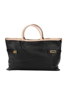 Chloe black leather 'Charlotte' large tote bag