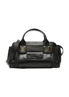 Chloe black leather convertible small doctor bag