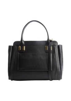 Chloe black leather convertible tote