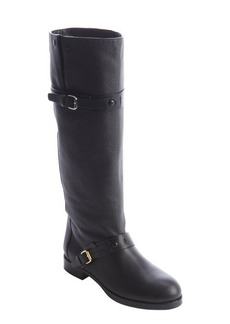 Chloe black leather dual bucklestrap boots