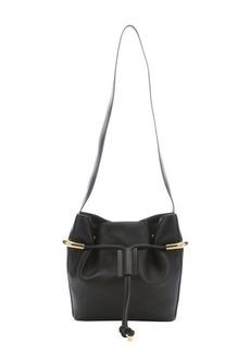Chloe black leather 'Emma' drawstring shoulder bag