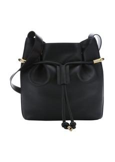 Chloe black leather 'Emma' medium drawstring bucket bag