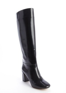 Chloe black leather heeled tall boots