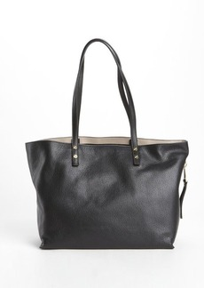 Chloe black leather large 'Dilan' tote bag