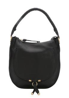 Chloe black leather 'Marcie Nude' hobo bag
