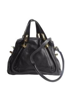 Chloe black leather 'Paraty' convertible satchel bag