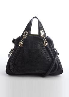 Chloe black leather 'Paraty' convertible top handle satchel