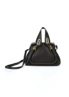 Chloe black leather 'Paraty' small convertible top handle bag