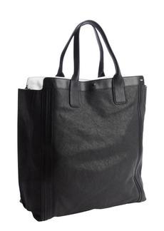 Chloe black leather shopper tote