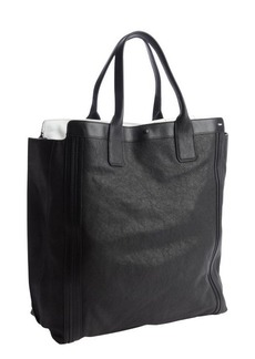 Chloe black leather shopper tote