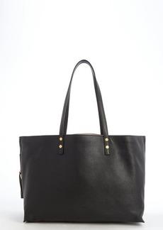 Chloe black leather side zip pocket 'Dilan' tote