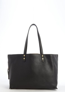 Chloe black leather side zip shopping tote