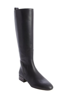 Chloe black leather side zipper tall boots