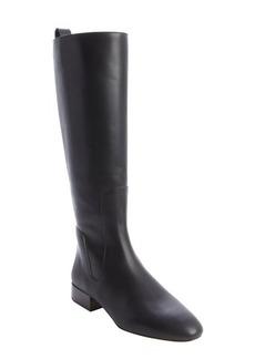 Chloe black leather side zipper tall boots