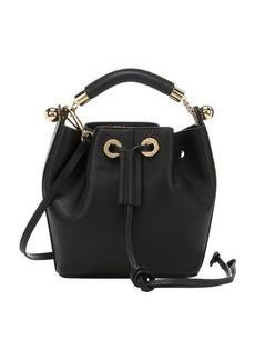 Chloe black leather small 'Gala' bucket bag