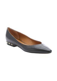 Chloe black leather studded heel ballerina flats
