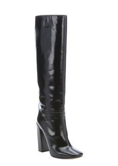 Chloe black patent leather knee high boots
