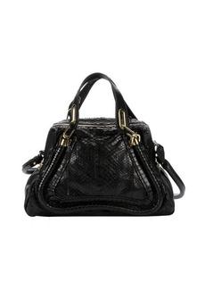 Chloe black python medium 'Paraty' convertible satchel