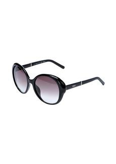 Chloe black round frame 54mm sunglasses