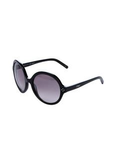 Chloe black round frame 55mm sunglasses