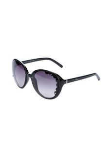 Chloe black rounded scalloped lens 60mm sunglasses