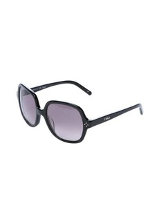 Chloe black square frame 55mm sunglasses