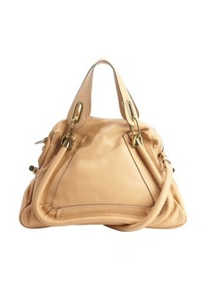 Chloe blonde chestnut leather 'Paraty' convertible top handle satchel