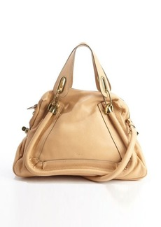 Chloe blonde chestnut leather 'Paraty' convertible top handle satchel
