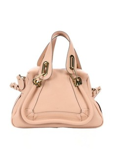 Chloe blush nude calfskin small 'Paraty' convertible top handle bag